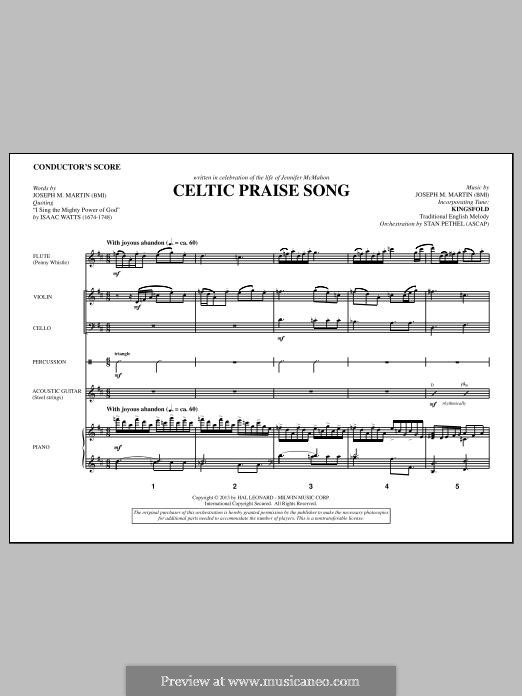 The Celtic Choir: Score by Joseph M. Martin