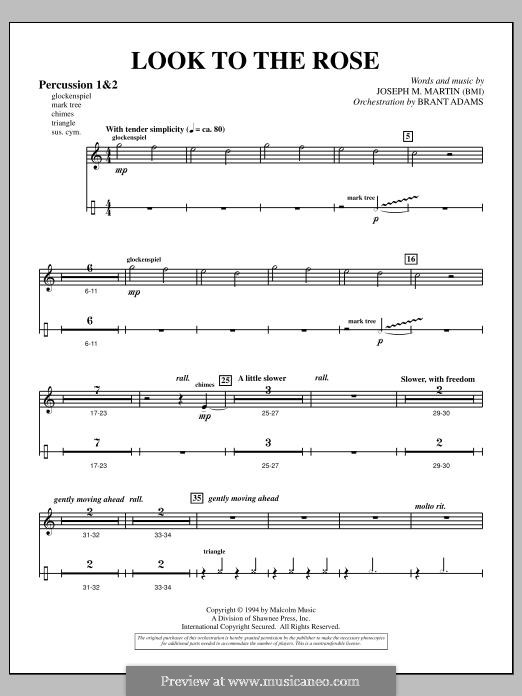 Look to the Rose: Percussion 1 & 2 part by Joseph M. Martin