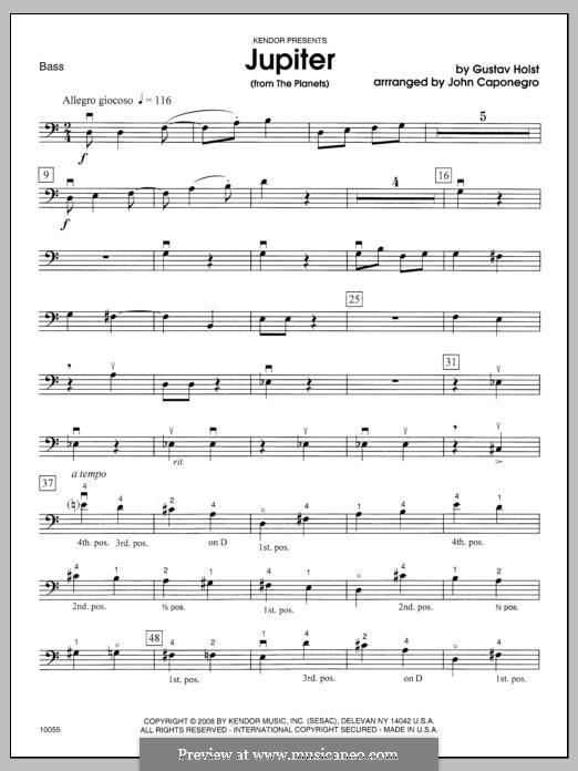 Jupiter: Bass part by Gustav Holst