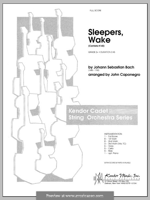 Sleepers, Awake: Full Score (Caponegro) by Johann Sebastian Bach