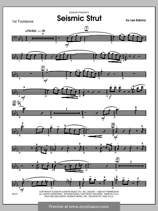 Seismic Strut: Trombone 1 part by Les Sabina