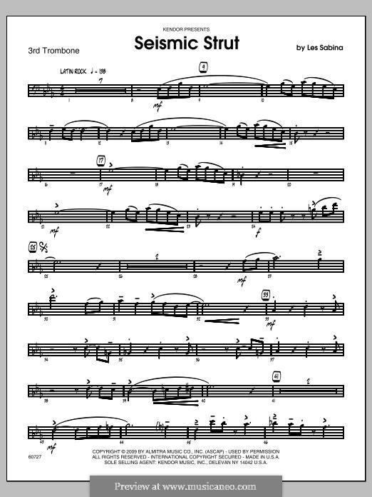 Seismic Strut: Trombone 3 part by Les Sabina