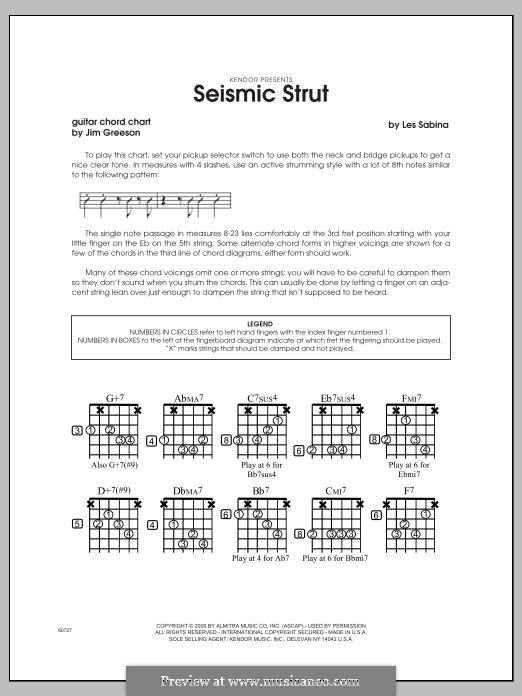 Seismic Strut: Guitar Chord Chart part by Les Sabina