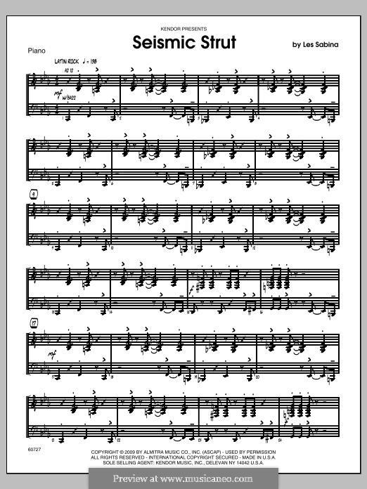 Seismic Strut: Piano part by Les Sabina