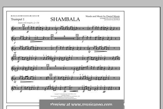 Shambala: Trumpet 1 part by Daniel Moore