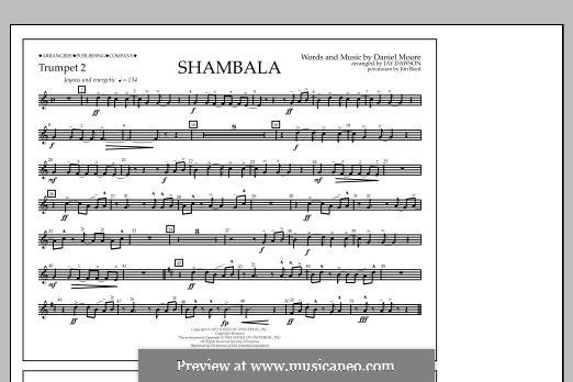 Shambala: Trumpet 2 part by Daniel Moore