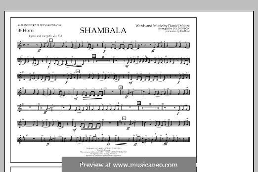Shambala: Bb Horn part by Daniel Moore