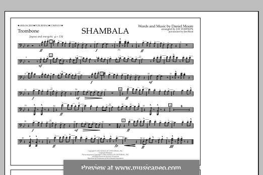 Shambala: Trombone part by Daniel Moore