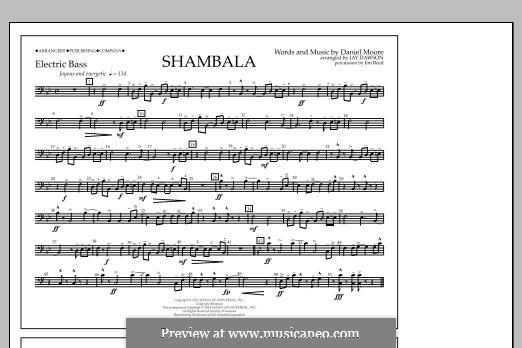 Shambala: Electric Bass part by Daniel Moore
