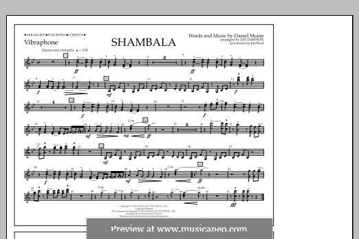 Shambala: Vibraphone part by Daniel Moore
