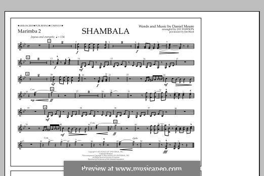 Shambala: Marimba 2 part by Daniel Moore