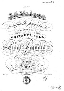 Thirty-Six Waltzes for Guitar, Op.63: All Waltzes by Luigi Legnani