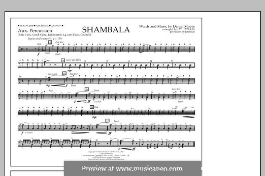 Shambala: Aux Percussion part by Daniel Moore