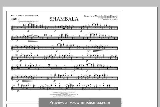 Shambala: Flute 1 part by Daniel Moore
