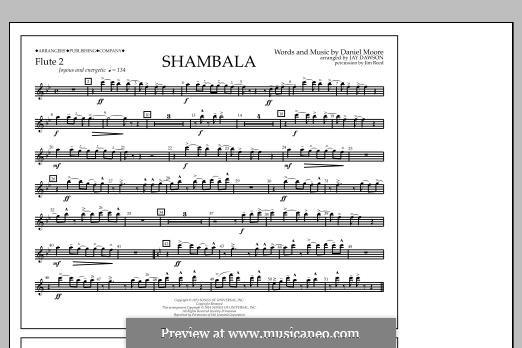 Shambala: Flute 2 part by Daniel Moore