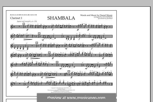 Shambala: Clarinet 1 part by Daniel Moore