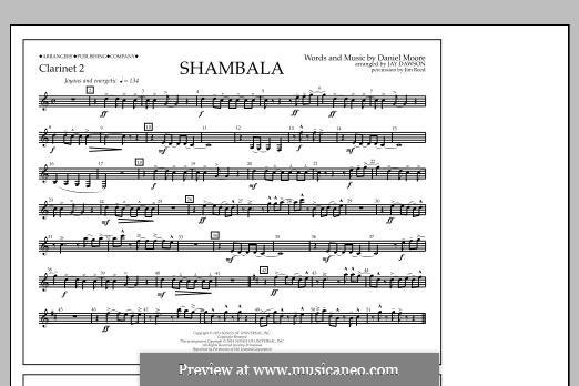 Shambala: Clarinet 2 part by Daniel Moore