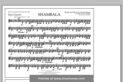 Shambala: Bass Clarinet part by Daniel Moore