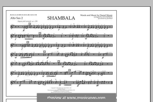 Shambala: Alto Sax 2 part by Daniel Moore