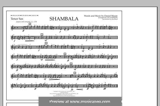 Shambala: Tenor Sax part by Daniel Moore
