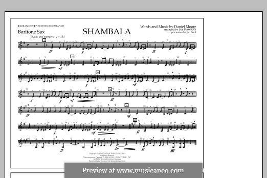 Shambala: Baritone Sax part by Daniel Moore
