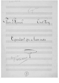 Cependant que ce beau mois: Transposed One Tone Down, Piano-vocal score by Ernst Levy