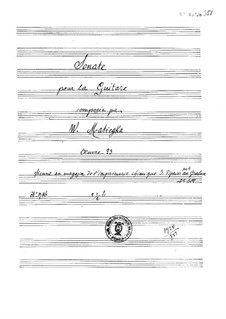 Sonata in B Minor, Op.23: For guitar by Wenzel Thomas Matiegka