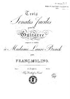Three Easy Sonatas, Op.1: Complete set by Francesco Molino