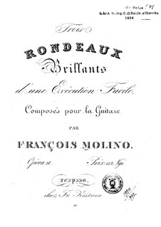 Three Rondos, Op.28: Three Rondos by Francesco Molino