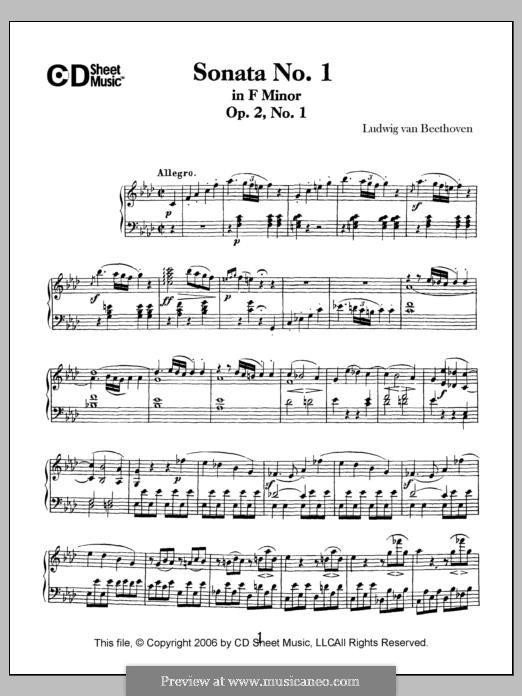 Three Sonatas for Piano, Op.2: Sonata No.1 by Ludwig van Beethoven