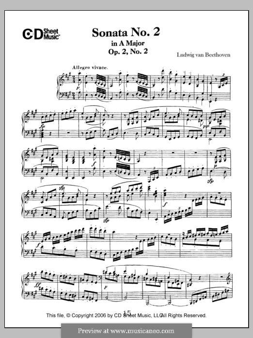Three Sonatas for Piano, Op.2: Sonata No.2 by Ludwig van Beethoven
