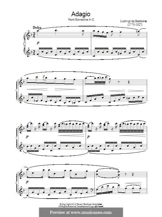 Sonatina in C Major: Movement II by Ludwig van Beethoven