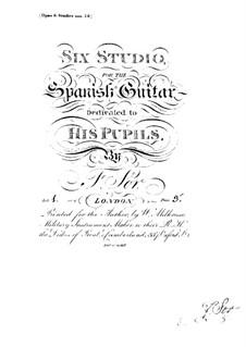 Twelve Etudes, Op.6: Etudes No.1-6 by Fernando Sor