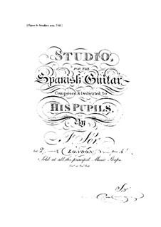 Twelve Etudes, Op.6: Etudes No.7-12 by Fernando Sor