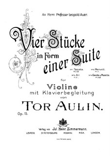 Four Pieces in the Form of Suites for Violin and Piano, Op.15: No.2 Minuet by Tor Aulin
