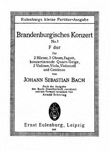 Brandenburg Concerto No.1 in F Major, BWV 1046: Movements I, II by Johann Sebastian Bach