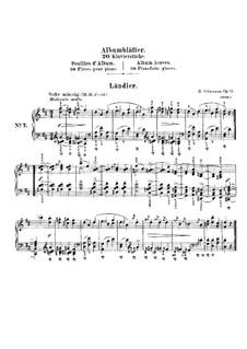Album Leaves, Op.124: No.7 Ländler by Robert Schumann