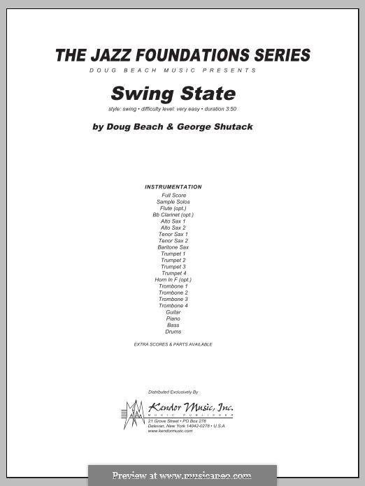Swing State: Full Score by Doug Beach, George Shutack