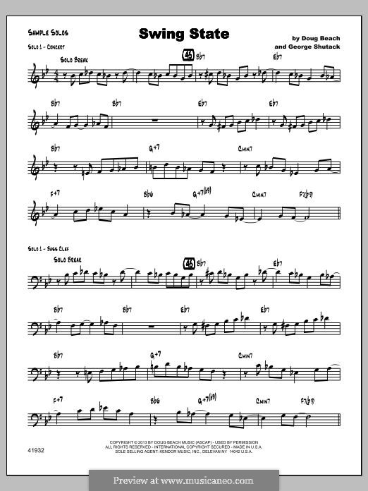 Swing State: Sample Solo part by Doug Beach, George Shutack