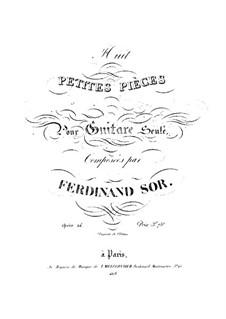 Eight Little Pieces, Op.24: Complete set by Fernando Sor