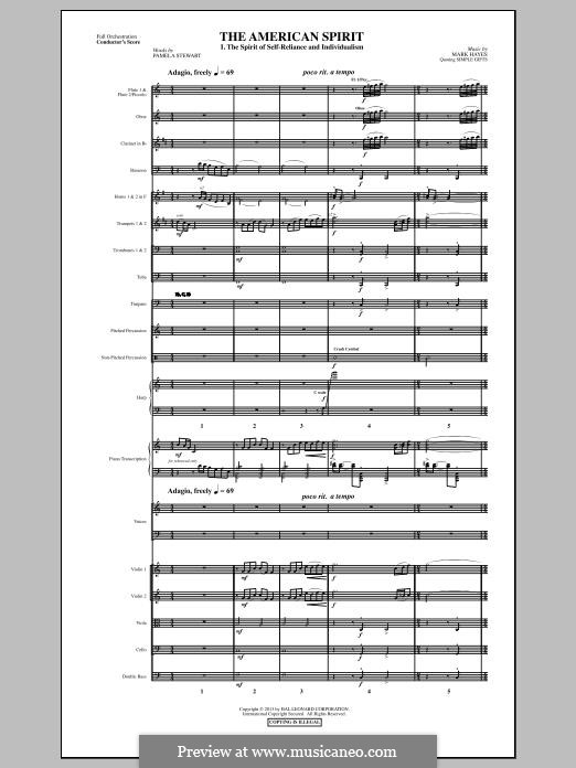 The American Spirit: Score by Mark Hayes