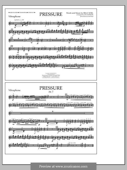 Pressure: Vibraphone part by Billy Joel