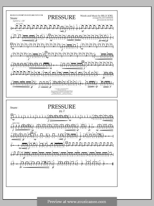 Pressure: Snare part by Billy Joel