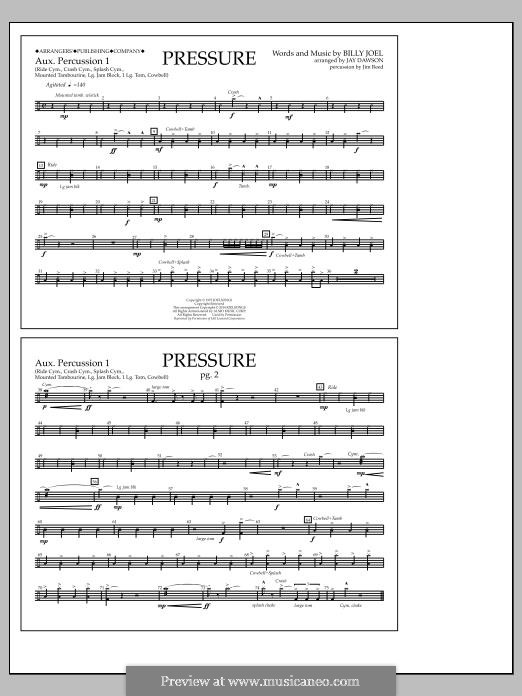 Pressure: Aux. Perc. 1 part by Billy Joel