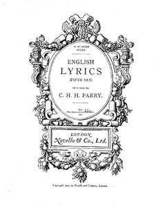 English Lyrics. Book 5: English Lyrics. Book 5 by Charles Hubert Hastings Parry