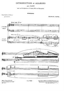 Introduction and Allegro, M.46: For two pianos four hands by Maurice Ravel