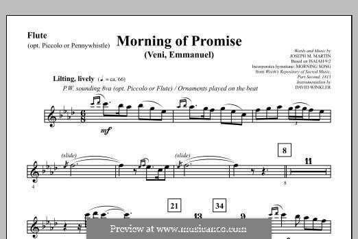 Morning of Promise: Flute (opt. Picc/Pennywhistle) part by Joseph M. Martin