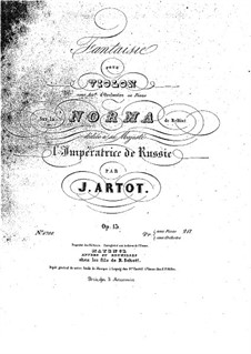 Fantasia on Themes from 'Norma' by Bellini, Op.13: Solo part by Alexandre Joseph Artôt