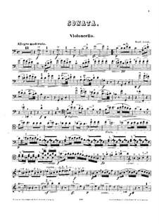 Sonata for Cello and Piano in C Major: Solo part by Bonifazio Asioli