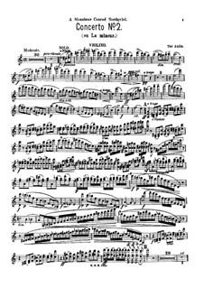 Violin Concerto No.2 in A Minor, Op.11: Solo part by Tor Aulin